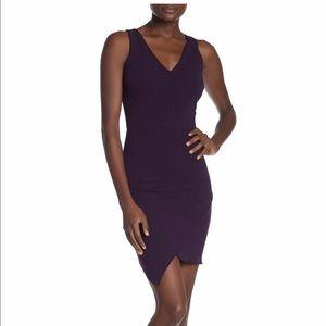 Very classy, asymmetrical dress.